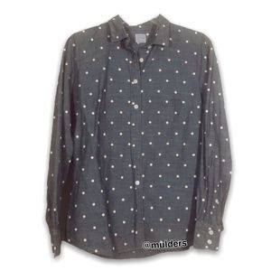 J. Crew Factory Polka Dot chambray shirt
